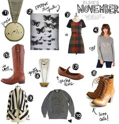 Elsie's November Wishlist - both pairs of boots!