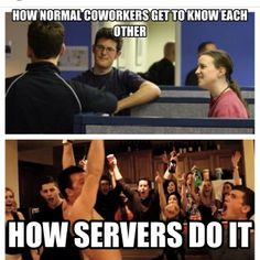 How servers get to know each other at work #serveology #serverlife #serverproblems