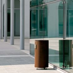 Spencer #Litter #Bin - Metalco UK Street Furniture #streetfurniture #litterbins #corten