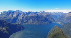 Milford Sound New Zealand - as seen from the iconic Mitre Peak  #landscape #milford #sound #zealand #seen #iconic #mitre #peak #photography