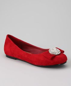 2ca1c52cde71 Take a look at this Red Gaby Ballet Flat by Dotty Shoes on #zulily today