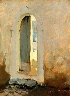 John Singer Sargent, Open Doorway, Morocco, 1879-80