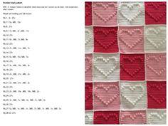 Bobbeltjes hart patroon