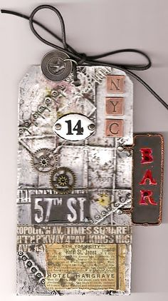 NYC Steampunk Tag - Scrapbook.com Would like to make one of these for Abby's scrapbook NY page.