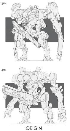 Ray jin mech line work a Character Concept, Character Design, Robot Sketch, Drawing Cartoon Faces, Robot Costumes, Arte Robot, The Embrace, Robot Concept Art, Robot Design