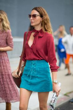 New York Fashion Week Spring 2016 Street Style Street Style Trends, Street Style 2016, New York Fashion Week Street Style, Nyc Fashion, Street Style Looks, Spring Fashion, Fashion Trends, Style Fashion, Street Styles
