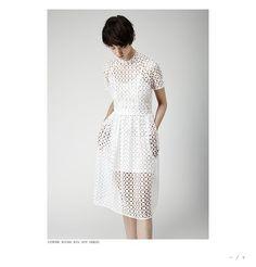 Simone Rocha white eyelit dress- womens size 6 #SimoneRocha