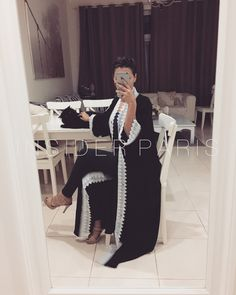 Jasmine White Lace - Kimono Abaya