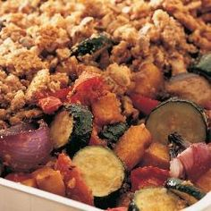 Roasted vegetable crumble- definitely one to make!