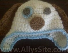 FREE Pattern to Crochet a Puppy Dog Hat  : )