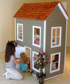 a doll house for her american girl dolls. This one is pretty neat!