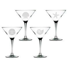 Seashore Martini Glass (Set of 4)