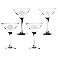 Seashore Martini Glass (Set of 4) at Joss & Main
