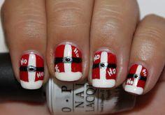 Midnight Manicures: Guest Post - Ho Ho Ho - Rin from Rin's Nail Files Nails Now, Love Nails, Pretty Nails, My Nails, Seasonal Nails, Holiday Nails, Christmas Nails, Santa Nails, Santa Claws