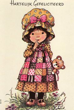Vintage Postcard Seventies by Mary May by CuteEyeCatchers on Etsy, Holly Hobbie, Vintage Pictures, Cute Pictures, Mary May, Sarah Key, Mo Manning, Cartoon People, Precious Children, Vintage Dolls