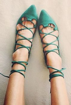 Sélection de chaussures vertes