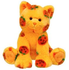 Build-A-Bear 14 inch Pumpkin Fun Kitty Orange Halloween Cat Cute Stuffed Animals, Dinosaur Stuffed Animal, Cute Animals, Halloween Toys, Halloween Season, Cute Plush, Build A Bear, Cute Toys, Plush Animals