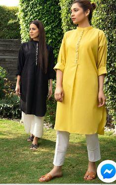 Stylish Dresses For Girls, Stylish Dress Designs, Designs For Dresses, Casual Dresses, Fashion Dresses, Dress Outfits, Women's Fashion, Formal Dresses, Simple Pakistani Dresses