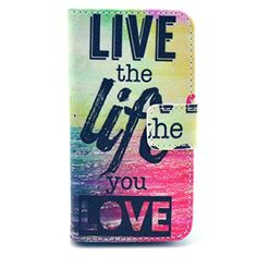 Karia® Flip Pocket PU Wallet Leather Case Cover For Apple Iphone 5C / 5 C - Live the life you love