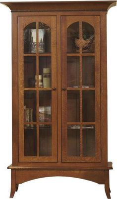 Amish Bunker Hill Bookcase Elegant solid wood bookcase with lots of custom features. For your home office or business, Amish made to last.