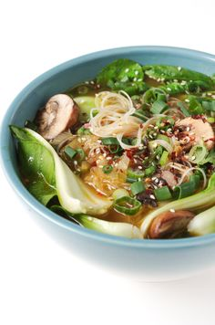 Ginger Garlic Noodle Soup with Bok Choy.