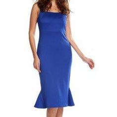 #trendsgal.com - #Trendsgal Square Neck Sleeveless Solid Color Dress - AdoreWe.com