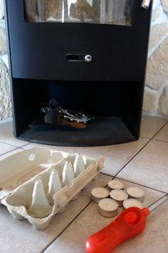 selbstgemachte kaminanz nder aus in wachs getauchte. Black Bedroom Furniture Sets. Home Design Ideas