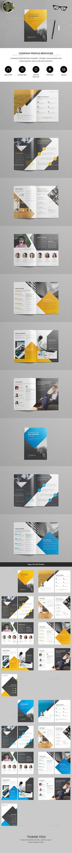 Company Profile Brochure Template - #Brochures Print #Templates Download here: https://graphicriver.net/item/company-profile-brochure-template/20133875?ref=alena994