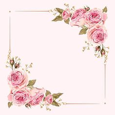 vector watercolor painted pink wedding flowers border background, Vector, Pink, Watercolor, Background image