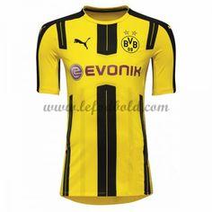 Billige Fodboldtrøjer BVB Borussia Dortmund 2016-17 Kortærmet Hjemmebanetrøje