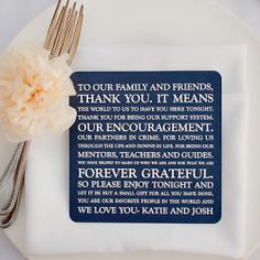 Thank You Place Setting