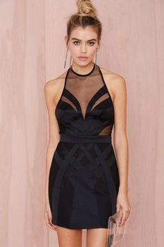 Nasty Gal Collection Tight Race Mesh Dress
