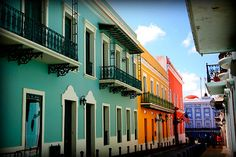 colorful streets - downtown old San Juan