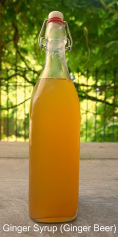 Ginger Syrup (Ginger beer)...a simple-to-make ingredient to make your drinks and food more tasty this summer!  See article for ideas.