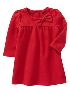 Bow ponte dress | Gap  Love me some red for miss Audrey
