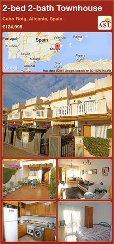 Townhouse for Sale in Beachside South Facing, Cabo Roig, Alicante, Spain with 2 bedrooms, 2 bathrooms - A Spanish Life Valencia, Portugal, Alicante Spain, Private Garden, Gated Community, Sandy Beaches, Public Transport, Cabo, Townhouse