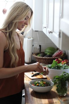 McKel from Nutrition Stripped in her kitchen | http://nutritionstripped.com/recipes/