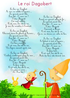 Paroles_Le bon roi Dagobert French Poems, Material Didático, French Kids, French Classroom, Book Images, Kids Songs, Learn French, French Language, I School