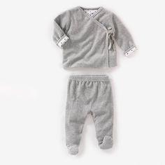 Pyjama aus Samt R baby (Grau)