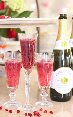 the-citrus-sparklerThis recipe includes options for a raspberry lemon sparkler and a pomegranate blood orange sparkler, using sorbet in a Bellini style drink worthy of a fancy glass. Check out all 20 booze free Mother's Day drinks on EatingRichly.com