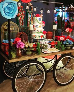 Diy Quinceanera Decorations, Mexican Party Decorations, Quince Decorations, Quinceanera Themes, Birthday Decorations, Frida Kahlo Party Decoration, Quince Themes, Quince Ideas, Mexican Quinceanera Dresses