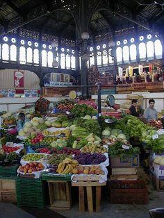 Frutas y verduras en el Mercado Central