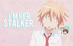 I wouldn't mind a stalker like that - Kaichou wa Maid-sama! Maid Sama Manga, Inu X Boku Ss, Gekkan Shoujo Nozaki Kun, Usui, Anime Couples, Girls Anime, Kaichou Wa Maid Sama, Anime Life, Anime Ships
