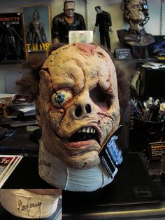 Teenage Frankenstein Mask signed by Gary Conway!