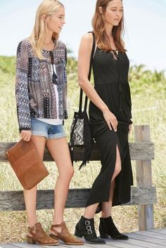 Two festival looks we're LOVING right now! Western boots and boho inspired tops