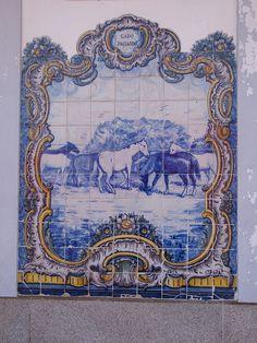 Painel de Azulejos: Gado Pastando - Elvas | Flickr – Compartilhamento de fotos!