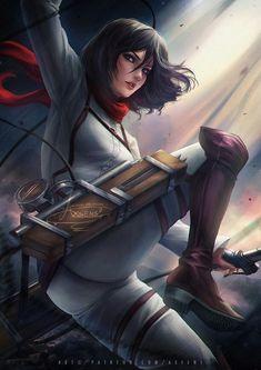 Mikasa Ackerman optional: by Axsens on DeviantArt Attack On Titan Eren, Attack On Titan Fanart, 5 Anime, Chica Anime Manga, Armin, Mikasa, Kawaii Anime Girl, Anime Art Girl, Rivamika