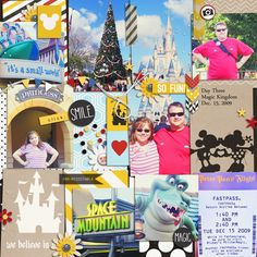"""Disney Digital Project Life page created by Kat, featuring """"Project Mouse"""" products by Sahlin Studio & Britt-ish Designs"""