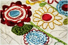 Would be fun to stitch flowers onto a layout