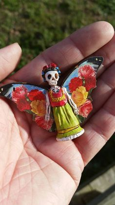 RESERVED for ELIZABETH Day of the Dead matchbox by dalaimomma